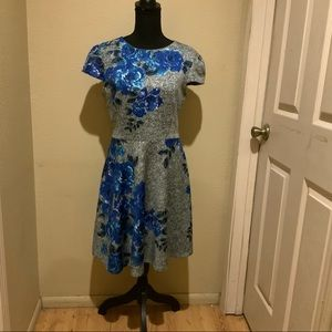 Betsey Johnson Blue Floral Dress
